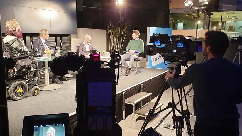 """Dreharbeiten für die ORF Sendung """"Wenn Menschen an sich glauben"""""""